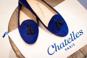 Chatelles - slippers blue