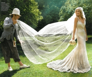 John Galliano - Kate Moss - wedding dress